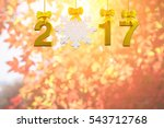 gold 2017 text and white snow... | Shutterstock . vector #543712768