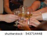 group of friends hit clink... | Shutterstock . vector #543714448