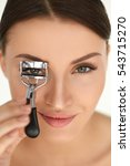 eyelash curler. portrait of... | Shutterstock . vector #543715270