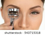 eyelash curler. portrait of... | Shutterstock . vector #543715318