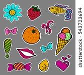 a set of fashion labels  badges.... | Shutterstock .eps vector #543723694
