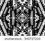 black and white color tribal... | Shutterstock .eps vector #543727210