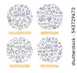 doodle vector concepts of pay... | Shutterstock .eps vector #543729673