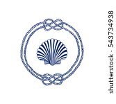 vector nautical emblem with... | Shutterstock .eps vector #543734938