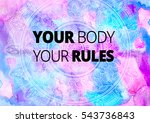fitness motivation quotes | Shutterstock . vector #543736843