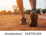 sports runner feet on road  ... | Shutterstock . vector #543756184