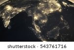 earth night asian from space | Shutterstock . vector #543761716