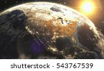 earth sunshine north america...   Shutterstock . vector #543767539