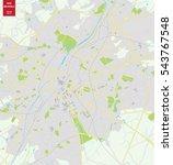 vector map of brussels  belgium.... | Shutterstock .eps vector #543767548