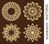 diy laser cutting patterns....   Shutterstock .eps vector #543773920