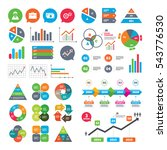 business charts. growth graph.... | Shutterstock .eps vector #543776530