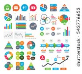business charts. growth graph.... | Shutterstock .eps vector #543776653