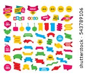 web stickers  banners and... | Shutterstock .eps vector #543789106