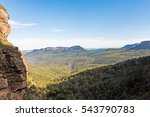the view of the blue mountains... | Shutterstock . vector #543790783