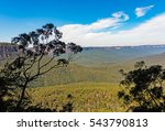 the view of the blue mountains... | Shutterstock . vector #543790813