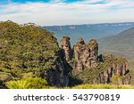 three sisters rock formation in ... | Shutterstock . vector #543790819