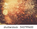 fireworks at new year and copy... | Shutterstock . vector #543799600