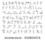 cartoon icons set of sketch... | Shutterstock .eps vector #543804376