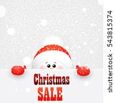 cute  funny  baby  snowman with ... | Shutterstock .eps vector #543815374