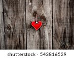 Red Heart Hangs On A Nail On...