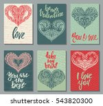 collection of romantic and love ... | Shutterstock .eps vector #543820300