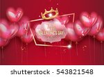 valentine's day cards with... | Shutterstock .eps vector #543821548