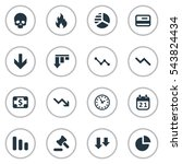 set of 16 simple impasse icons. ... | Shutterstock .eps vector #543824434