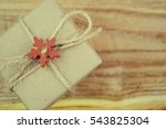 vintage gift box on wooden... | Shutterstock . vector #543825304