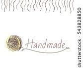 vector logo template for wool...   Shutterstock .eps vector #543828850