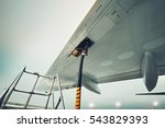process of the refueling... | Shutterstock . vector #543829393