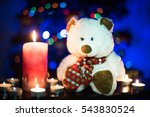 a teddybear surrounded by... | Shutterstock . vector #543830524