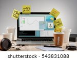 hard working process with a lot ... | Shutterstock . vector #543831088