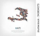people map country haiti vector | Shutterstock .eps vector #543834373