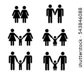 vector gay family icons over... | Shutterstock .eps vector #543846088