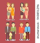 set of vector gay lgbt happy...   Shutterstock .eps vector #543851296