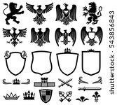 family coat of arms vector... | Shutterstock .eps vector #543856843