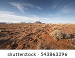 plain with red sand of namib... | Shutterstock . vector #543863296