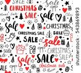 vector seamless sale pattern.... | Shutterstock .eps vector #543869893