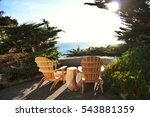two adirondack chairs on a... | Shutterstock . vector #543881359