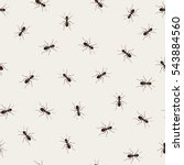 ant monochromic pattern vector...