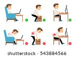 man sitting  working and... | Shutterstock .eps vector #543884566