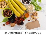 products rich of potassium  k . ... | Shutterstock . vector #543889738