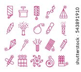 vector pyrotechnic icons set.... | Shutterstock .eps vector #543891910