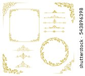 set of vintage elements. frames ... | Shutterstock .eps vector #543896398