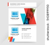 template of business card for... | Shutterstock .eps vector #543899950