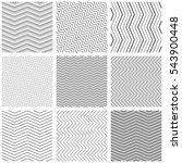 zigzag seamless pattern set.... | Shutterstock .eps vector #543900448