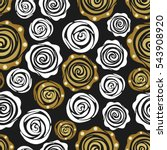 seamless pattern with golden... | Shutterstock .eps vector #543908920