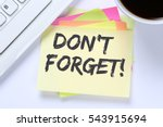 don't forget date meeting... | Shutterstock . vector #543915694