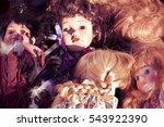 old dools background   memories ... | Shutterstock . vector #543922390