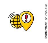 global navigation. flat line... | Shutterstock .eps vector #543923410